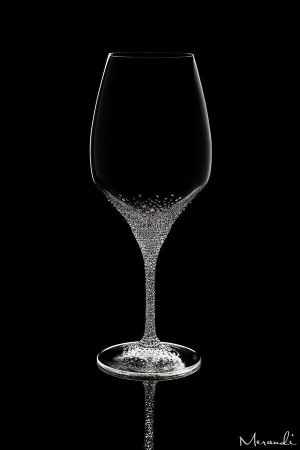 Rotweinglas von Riedel® mit 910 Swarovski® Kristallen veredelt, Sonir
