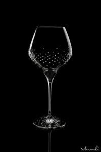 Rotweinglas von Riedel® mit 300 Swarovski® Kristallen veredelt, Rion