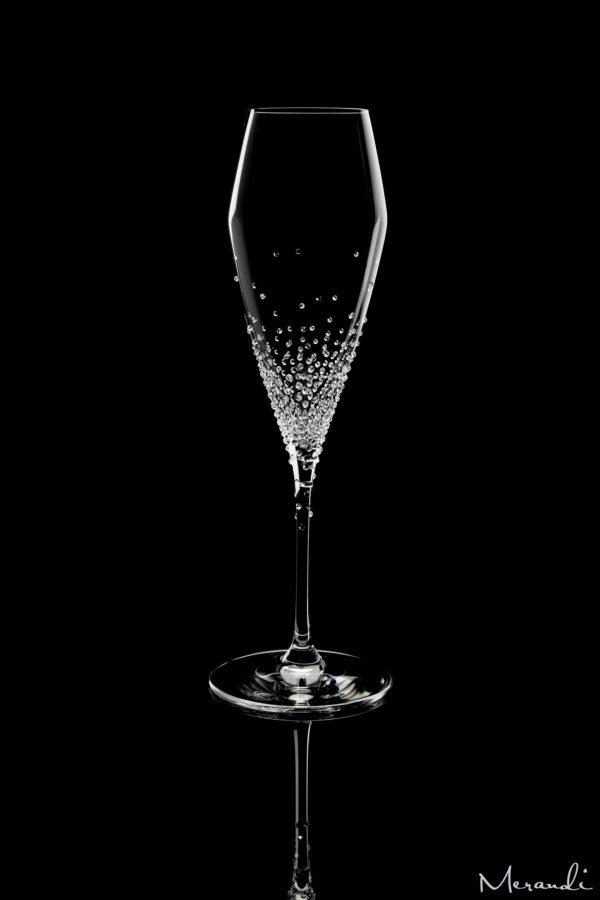 Champagnerglas von Riedel® mit 500 Swarovski® Kristallen veredelt, Arion