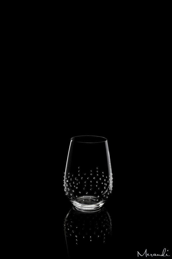 Wasserglas von Riedel® mit 108 Swarovski® Kristallen veredelt, Lorin
