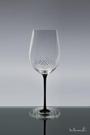 Rotweinglas, handgefertigt von Riedel® mit 286 Swarovski® Kristallen veredelt, Amber
