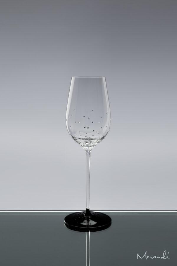 Weissweinglas, handgefertigt von Riedel® mit 154 Swarovski® Kristallen veredelt, Meja