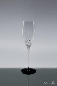 Champagnerglas, handgefertigt von Riedel® mit 319 Swarovski® Kristallen veredelt, Juno