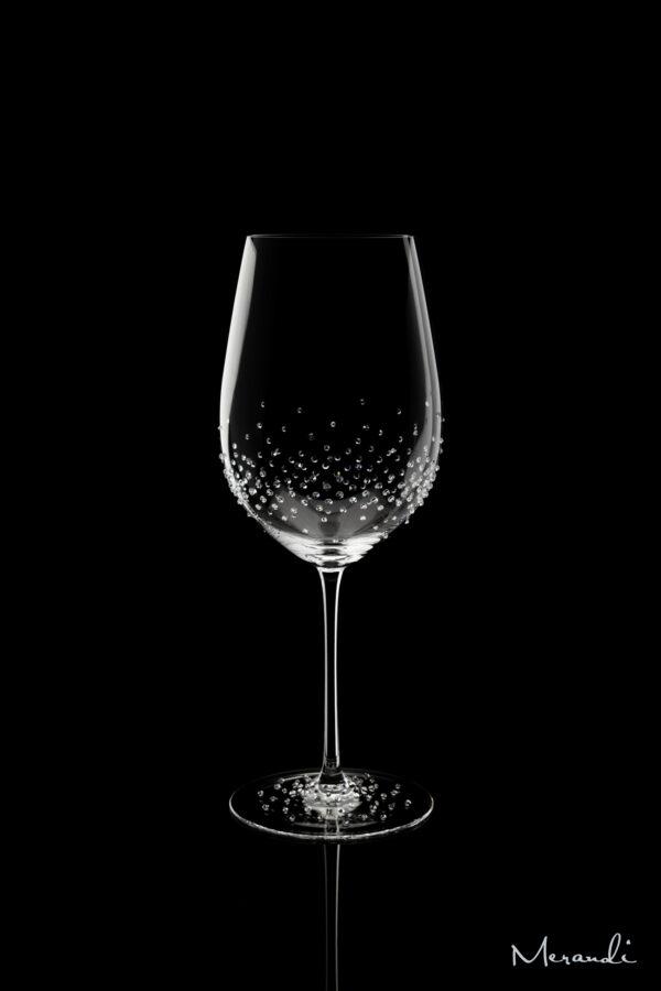 Rotweinglas, handgefertigt von Riedel® mit 263 Swarovski® Kristallen veredelt, Keona