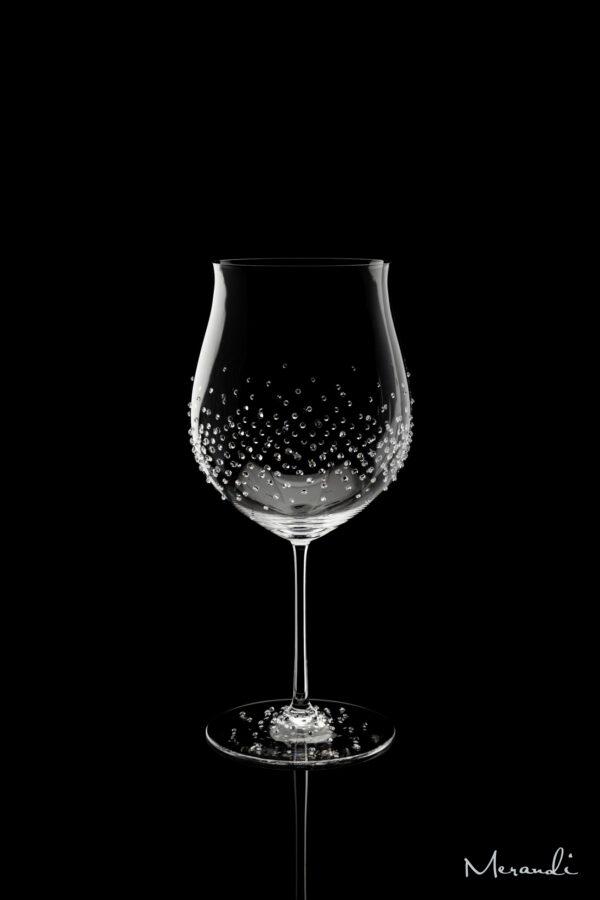 Rotweinglas, handgefertigt von Riedel® mit 323 Swarovski® Kristallen veredelt, Arokon