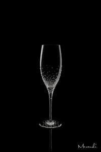 Champagnerglas, handgefertigt von Riedel® mit 319 Swarovski® Kristallen veredelt, Sudora