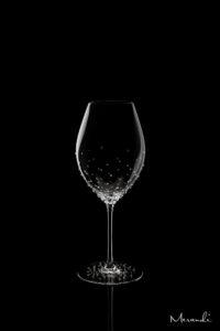 Rotweinglas, handgefertigt von Riedel® mit 182 Swarovski® Kristallen veredelt, Elara