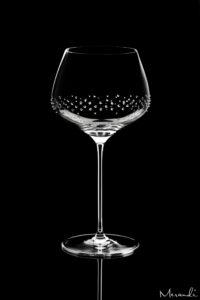 Rotweinglas von Spiegelau® mit 145 Swarovski® Kristallen veredelt, Heru