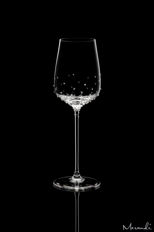 Weissweinglas von Spiegelau® mit 129 Swarovski® Kristallen veredelt, Silas