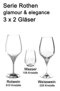 Riedel Weingläser mit Swarovski Kristallen veredelt