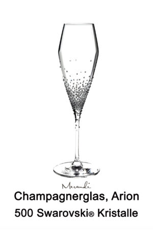 Champagne glass from Riedel® refined with 500 Swarovski crystals, Arion