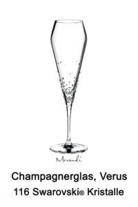 Champagnerglas von Spiegelau® mit 116 Swarovski® Kristallen veredelt, Verus