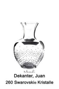 Dekanter von Riedel® mit 260 Swarovski® Kristallen veredelt, Juan