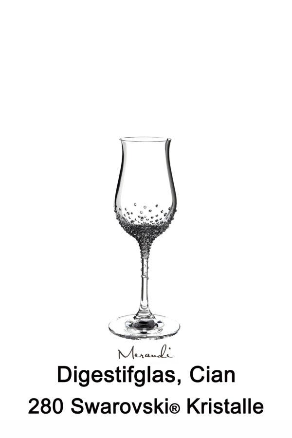 Grappaglas von Riedel® mit 280 Swarovski® Kristallen veredelt, Cian