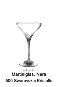 Martiniglas von Riedel® mit 500 Swarovski® Kristallen veredelt, Nera