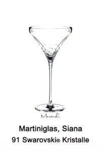 Martiniglas von Spiegelau® mit 91 Swarovski® Kristallen veredelt, Siana