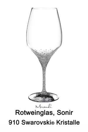 Red wine glass from Riedel® refined with 910 Swarovski® crystals, Sonir
