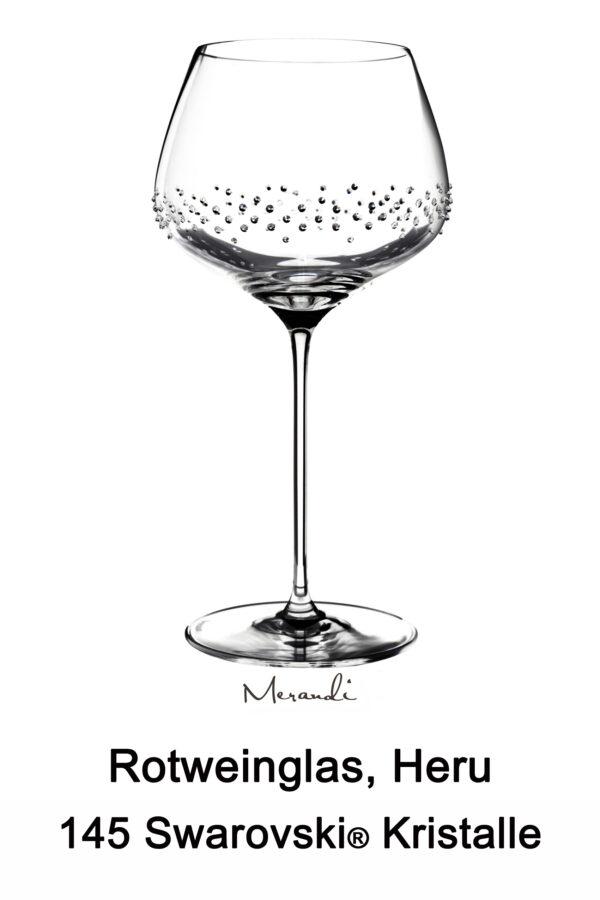 Rotweinglas von Spiegelau® mit 145 Swarovski® Kristallen veredelt