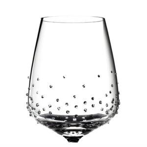 Rotweinglas von Riedel mit 117 Swarovski Kristallen veredelt, Lancer