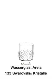 Water- Whisky glass from Riedel® refined with 133 Swarovski® crystals, Arela