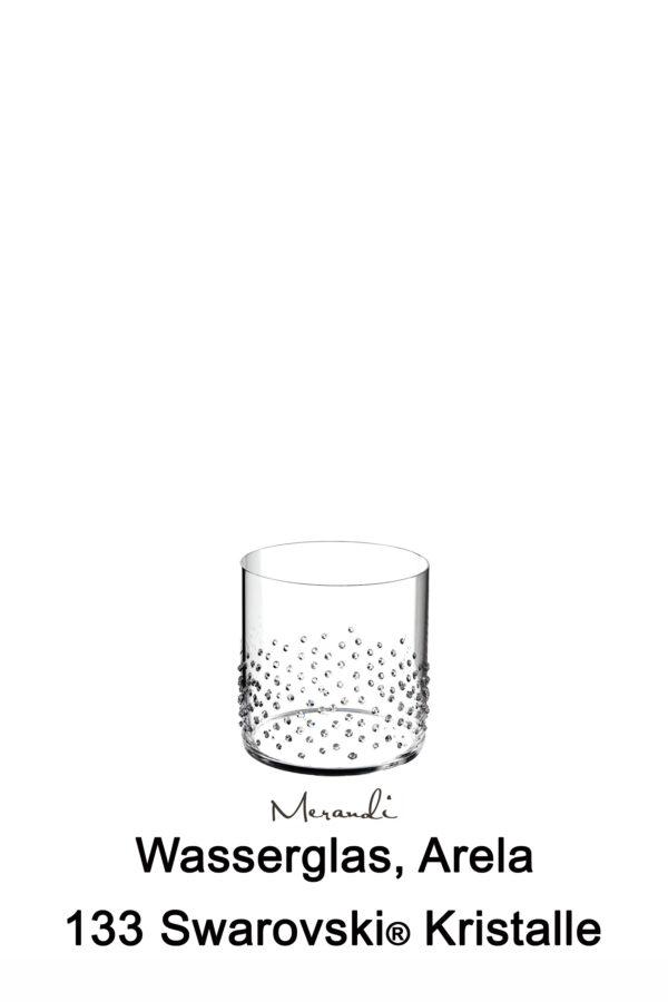 Wasser- Whiskyglas von Riedel® mit 133 Swarovski® Kristallen veredelt, Arela