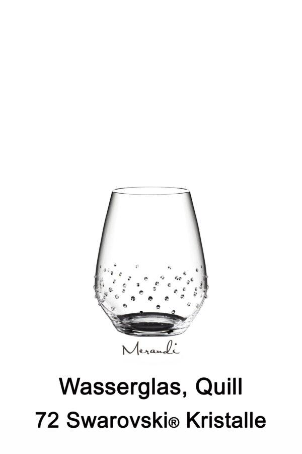 Wasserglas von Spiegelau® mit 72 Swarovski® Kristallen veredelt, Quill