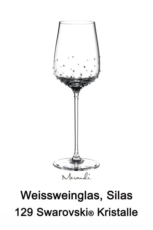 Weissweinglas von Spiegelau® mit 129 Swarovski® Kristallen veredelt