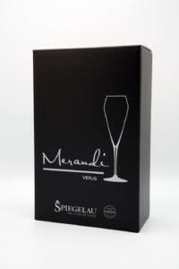 Champagnerglas Spiegelau® Swarovski® Kristalle Verus Merandi Schweiz Verpackung