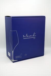 Rotweinglas Riedel®, Swarovski® Kristalle, Sonir Merandi Schweiz, Verpackung