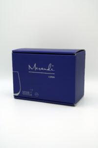 Wasserglas Riedel®, Swarovski® Kristalle, Lorin Merandi Schweiz, Verpackung
