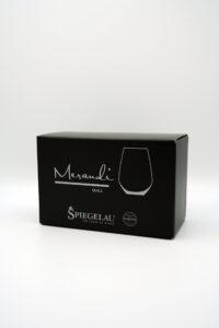 Wasserglas Spiegelau® Swarovski® Kristalle Quill Merandi Schweiz Verpackung