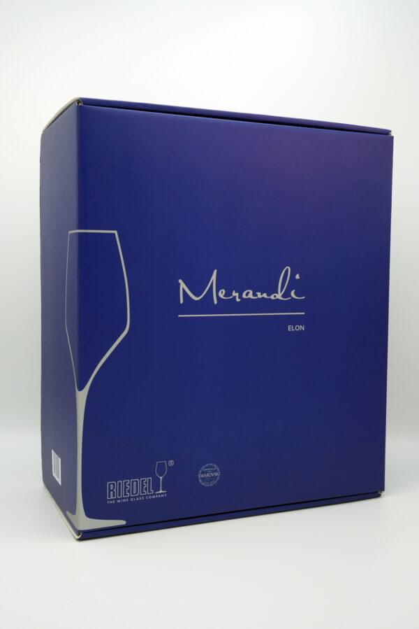 Weissweinglas Riedel®, Swarovski® Kristalle, Elon Merandi Schweiz, Verpackung