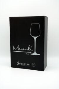 Weissweinglas Spiegelau® Swarovski® Kristalle Silas Merandi Schweiz Verpackung