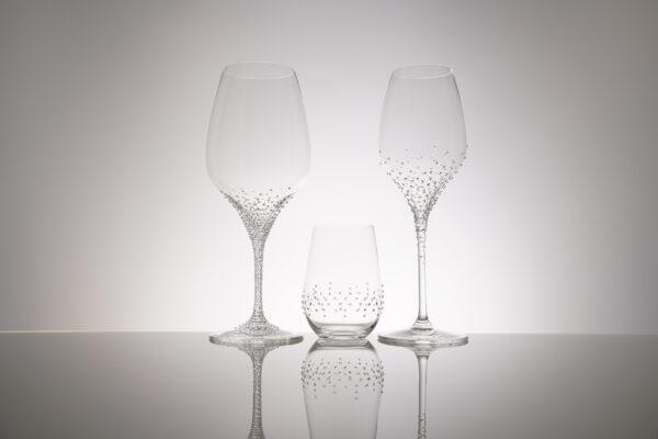 Rotwein-, Wasser- und Weissweinglas der Serie Rothen, Merandi Schweiz