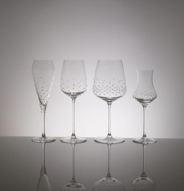 4er Set Laria, Merandi Schweiz, Spiegelau, Swarovski Kristalle