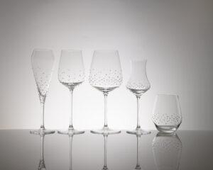5 verschiedene Gläser der Serie Laria, Merandi Schweiz