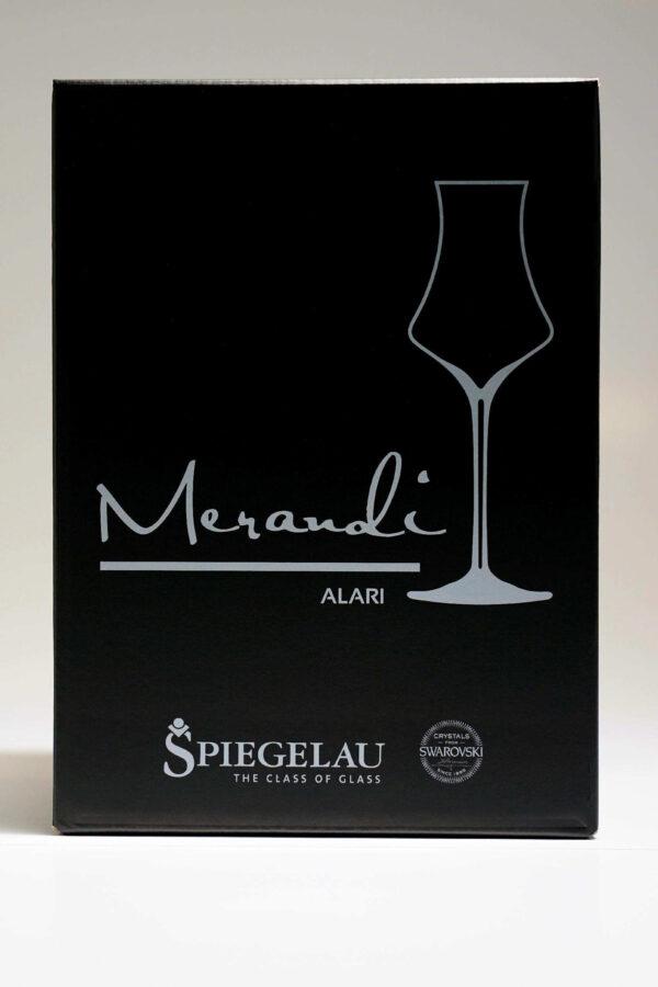 "Brandy, Digestifglas ""Alari"" Merandi Schweiz, Verpackung"