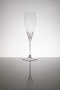 """Champagnerglas """"Arion"""" Merandi Schweiz, Riedel, 500 Swarovski Kristalle"""