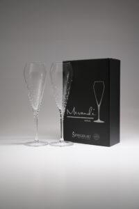 Champagnerglas Verus, Merandi Schweiz, Spiegelau, Swarovski Kristalle