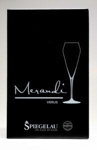 Verpackung Champagnerglas Verus, Merandi Schweiz
