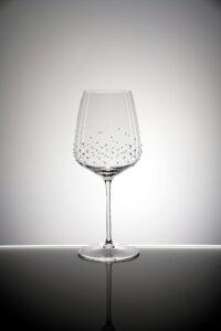 Rotweinglas, Lancer, Merandi Schweiz, Spiegelau, Kristalle Swarovski, kontrastreich beleuchtet