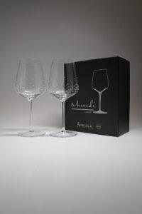 """Rotweinglas, Merandi Schweiz """"Lancer"""", Spiegelau, Swarovski Kristalle"""
