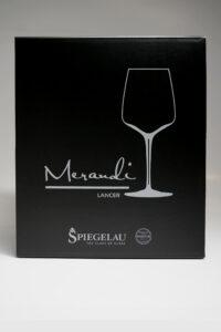 """Rotweinglas """"Lancer"""" Merandi Schweiz, Verpackung, Spiegelau, Swarovski Kristalle"""