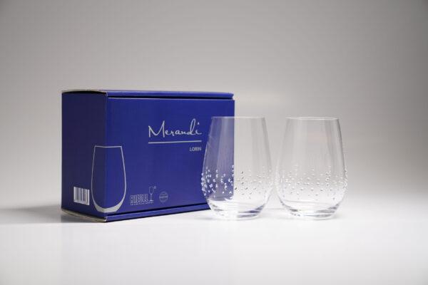 Wasserglas, Merandi Schweiz Lorin, Riedel, Swarovski Kristalle