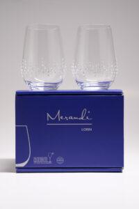 Wasserglas, Merandi Schweiz Lorin, Riedel, Swarovski Kristall