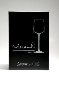 """Weissweinglas """"Silas"""" Merandi Schweiz, Verpackung, Spiegelau, Swarovski Kristalle"""