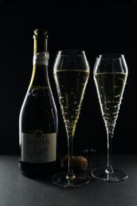 Champagnerglas Verus, Merandi Schweiz, Swarovski Kristalle, Spiegelau, Zonin Prosecco