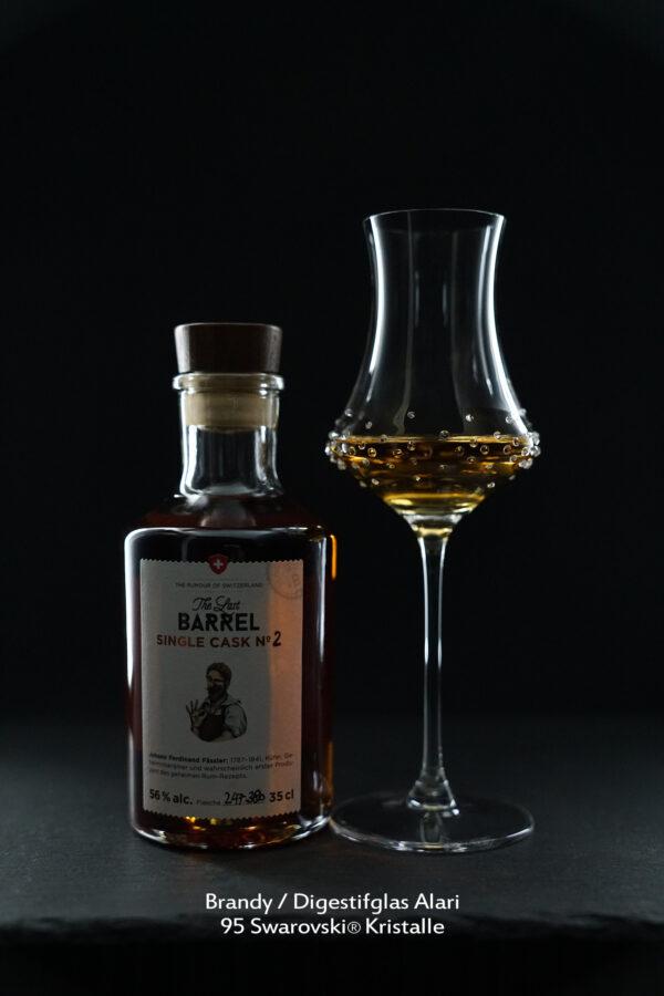 Brandy Digestifglas Alari, Merandi Schweiz, 95 Swarovski® Kristalle, Rum The Last Barrel