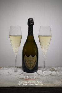 Champagnerglas Arion, Merandi Schweiz, 500 Swarovski® Kristalle, Dom Perignon