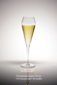 Champagnerglas Verus, Merandi Schweiz, 116 Swarovski® Kristalle